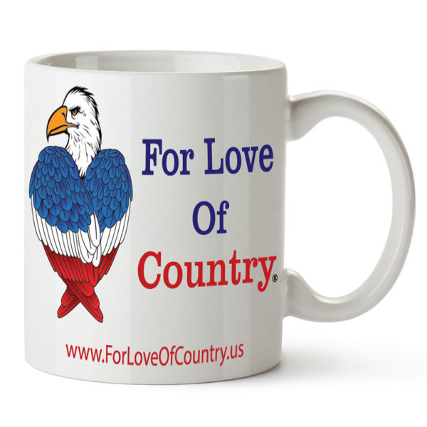 For Love Of Country mug with Eagle