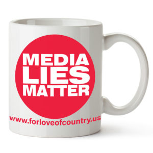 media lies matter coffee mug